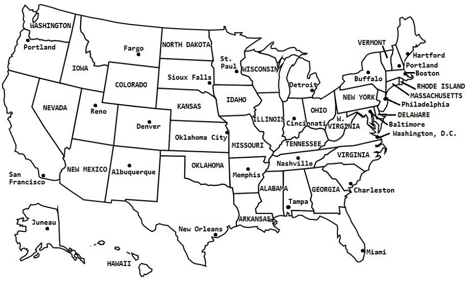 Quiz On Us Map Fix the US Map Quiz